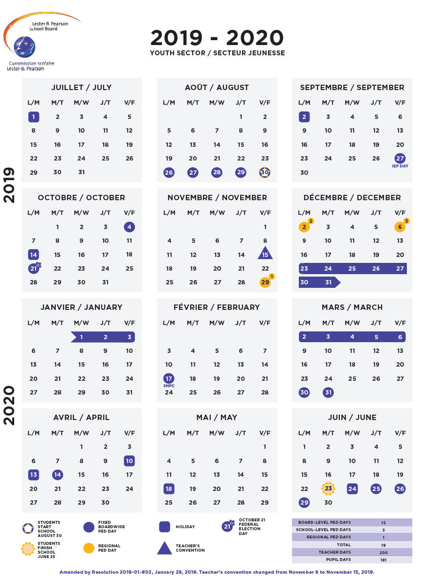 Calendrier Scolaire 2020 Et 2021.Calendars Lbpsb